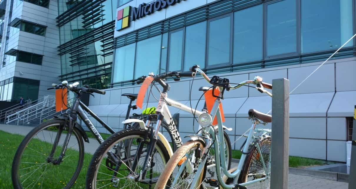 Microsoft Polska zachęca pracowników do korzystania z rowerów